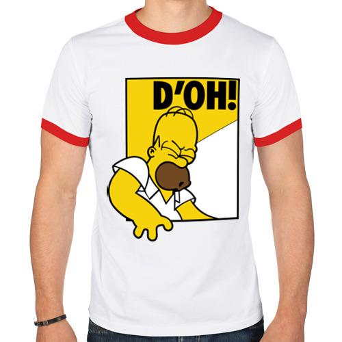 Мужская футболка рингер  Фото 01, Гомер (D'OH!)