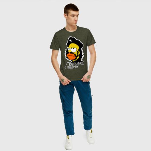 Мужская футболка хлопок Гомер cerveza o muerte (пиво или смерть) Фото 01