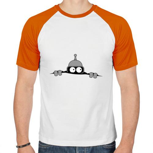 Мужская футболка реглан  Фото 01, Bender из-под футболки
