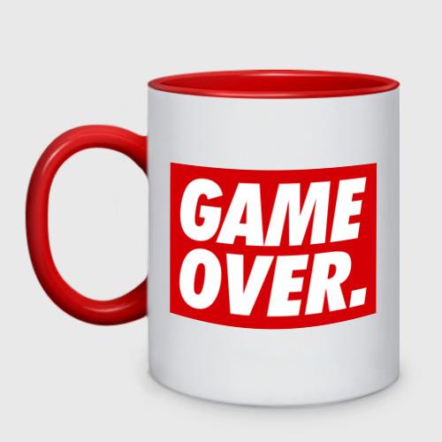 Кружка двухцветная Obey Game Over