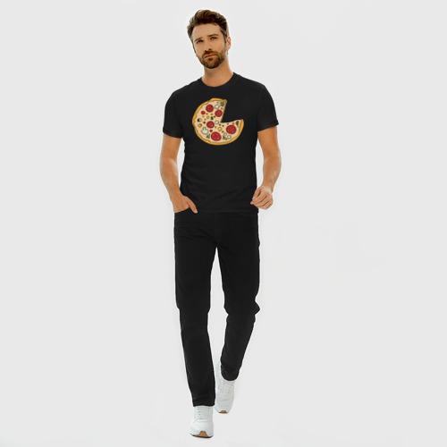 Мужская футболка хлопок Slim Пицца парная Фото 01