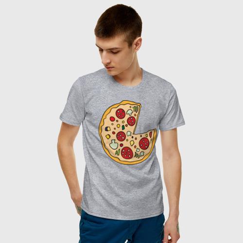 Мужская футболка хлопок Пицца парная Фото 01