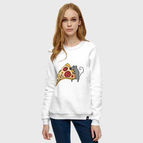Женский свитшот хлопок Кусочек пиццы парная Фото 01