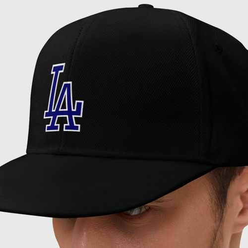 Кепка снепбек с прямым козырьком Los Angeles Dodgers logo Фото 01