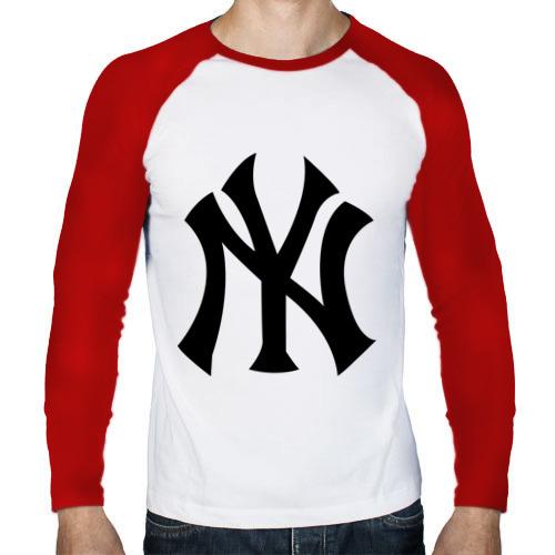Мужской лонгслив реглан  Фото 01, New York Yankees