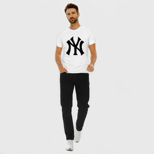 Мужская футболка хлопок Slim New York Yankees Фото 01