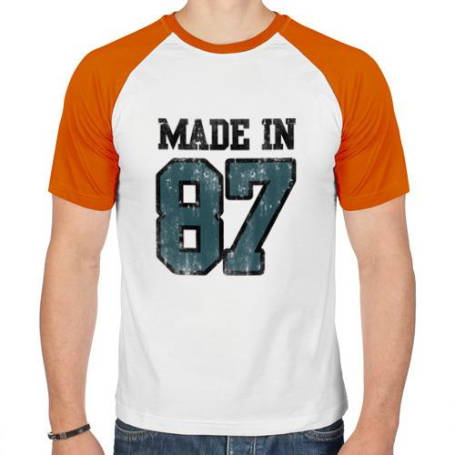 Мужская футболка реглан  Фото 01, Made in 87