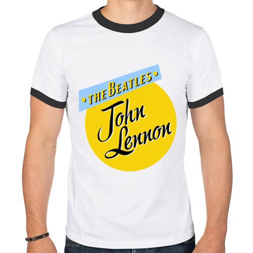 Мужская футболка рингер  Фото 01, John Lennon The Beatles