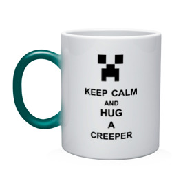 keep calm and hug a creeper
