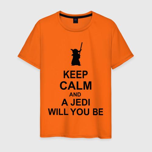 Мужская футболка хлопок Keep calm and a jedi will you be Фото 01