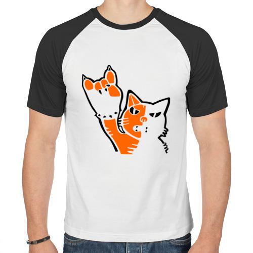 Мужская футболка реглан  Фото 01, Рокерский котейка