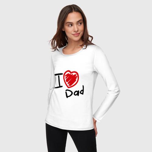 Женский лонгслив хлопок  Фото 03, love dad