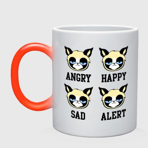 Кружка хамелеон Mood Cat
