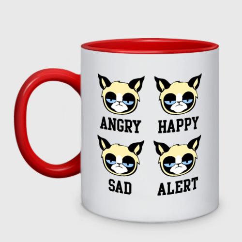 Кружка двухцветная Mood Cat