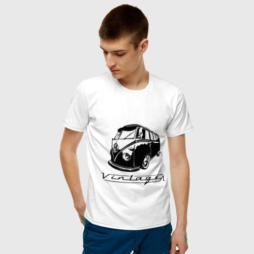 Мужская футболка хлопок Vintage bus Фото 01