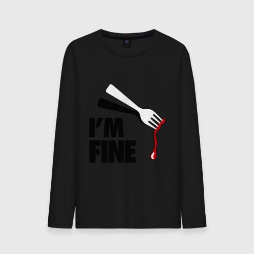 Мужской лонгслив хлопок  Фото 01, I\'m Fine Fork