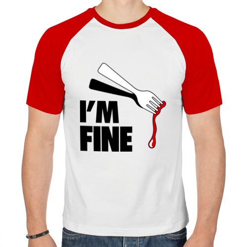 Мужская футболка реглан  Фото 01, I\'m Fine Fork