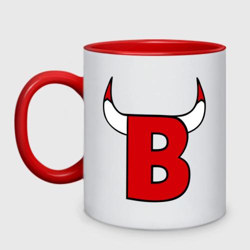 Кружка двухцветная B-Bulls