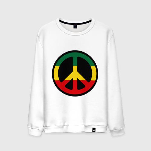 Мужской свитшот хлопок  Фото 01, Peace simbol