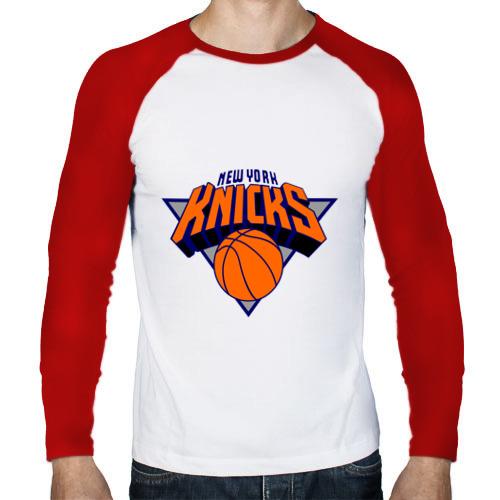 Мужской лонгслив реглан  Фото 01, NY Knicks
