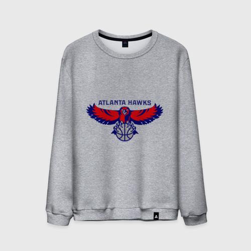 Мужской свитшот хлопок  Фото 01, Atlanta Hawks - logo