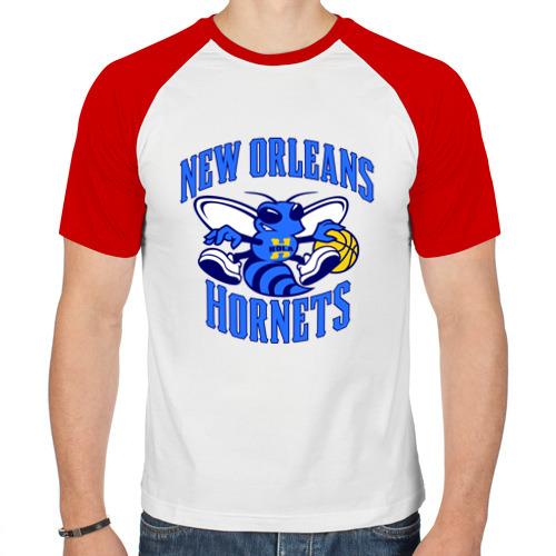 Мужская футболка реглан  Фото 01, New Orleans Hornets
