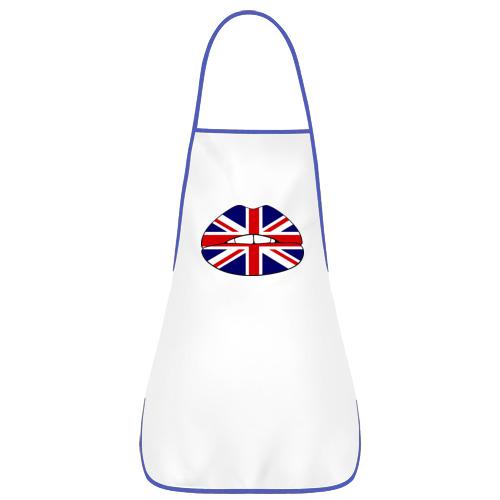 Фартук с кантом Britain lips