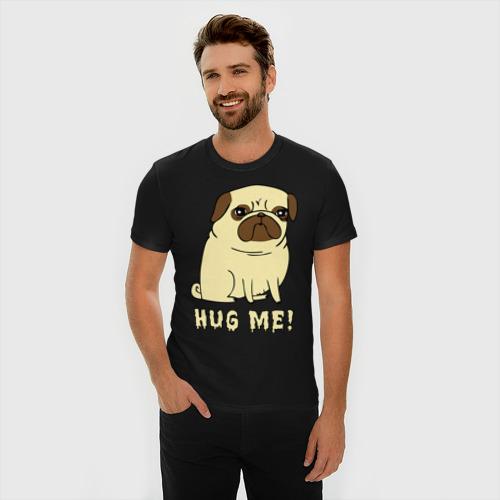 Мужская футболка премиум  Фото 03, Hug me! Dog