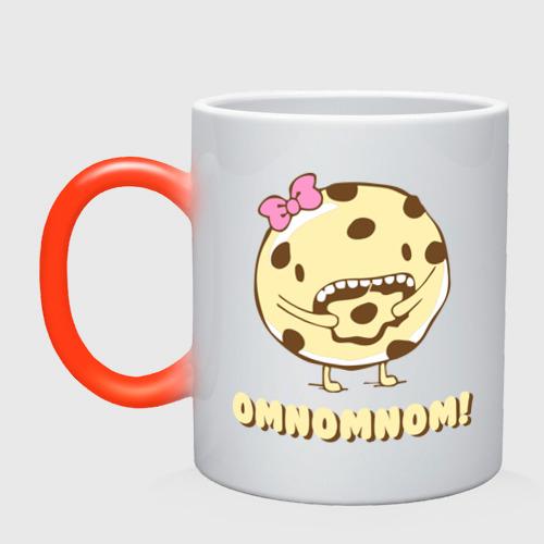 Кружка хамелеон Omnomnom!