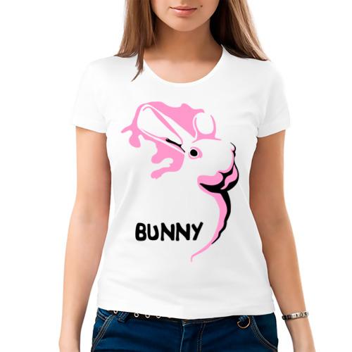 Женская футболка хлопок  Фото 03, Pink bunny