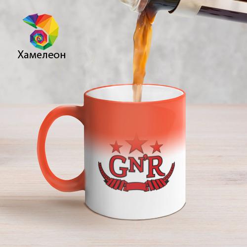 Кружка хамелеон  Фото 05, GNR red