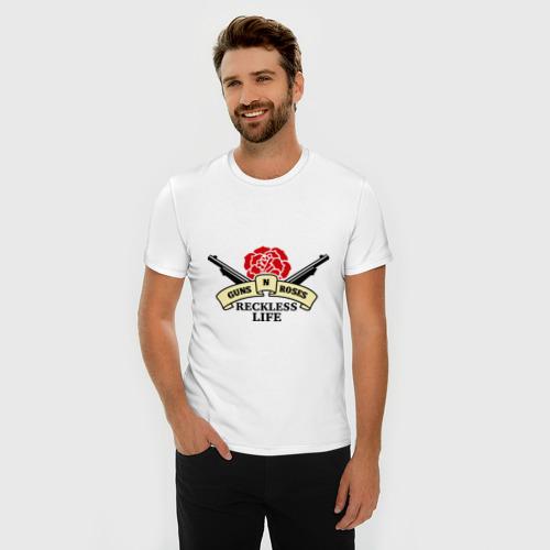 Мужская футболка премиум  Фото 03, GNR reckless life