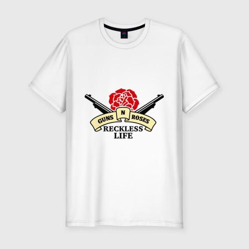 Мужская футболка премиум  Фото 01, GNR reckless life