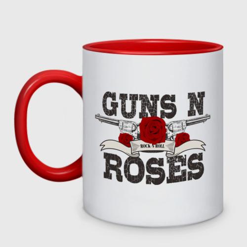 Кружка двухцветная Guns n roses black