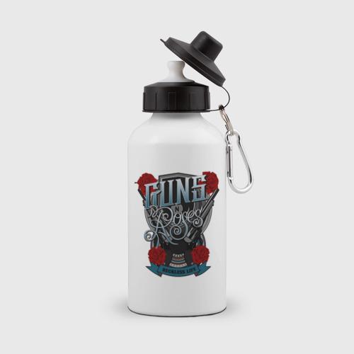 Бутылка спортивная Guns n roses illustration