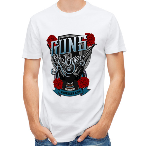Мужская футболка синтетическая Guns n roses illustration от Всемайки