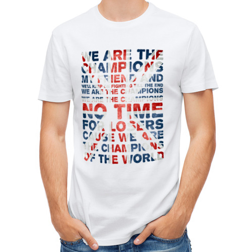 Мужская футболка полусинтетическая  Фото 01, Champion flag
