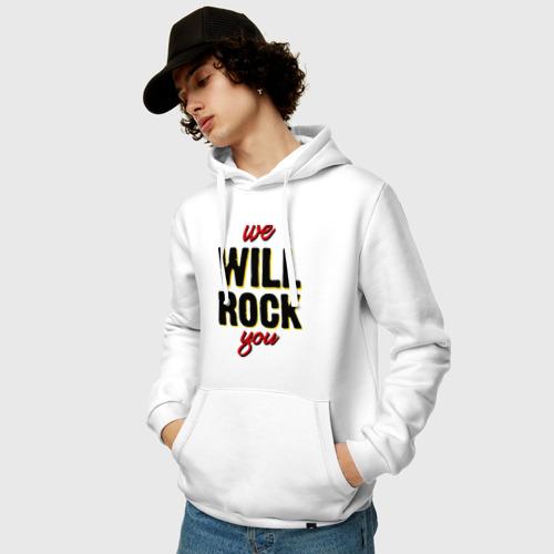 Мужская толстовка хлопок  Фото 03, We will rock you!