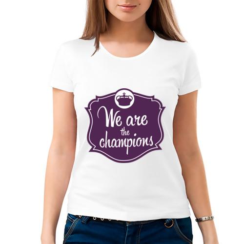 Женская футболка хлопок  Фото 03, We are the champions