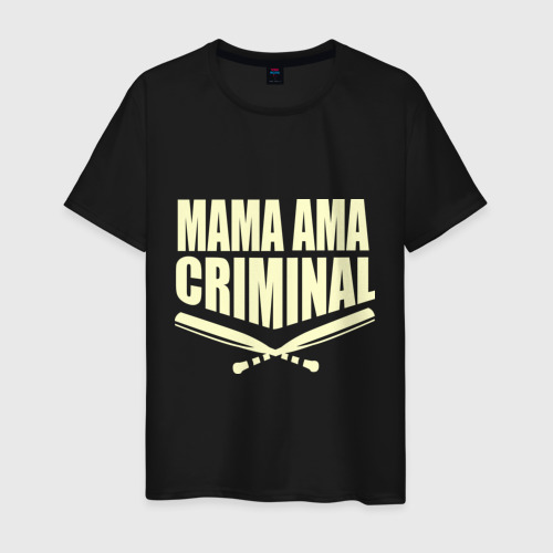 Мужская футболка хлопок Mama ama criminal glow
