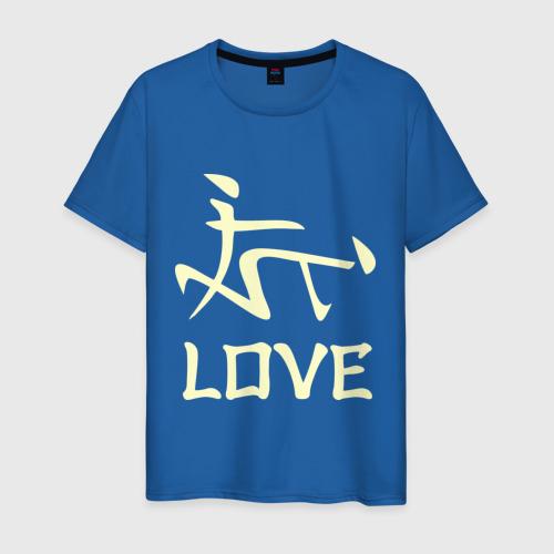 Мужская футболка хлопок Иероглиф lOVE Фото 01