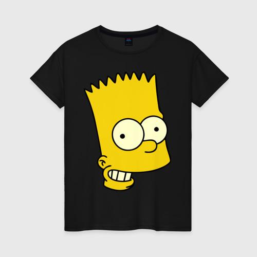Женская футболка хлопок Голова Барта