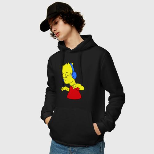 Мужская толстовка хлопок Барт в наушниках Фото 01