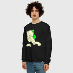 Барт слушает музыку и светится