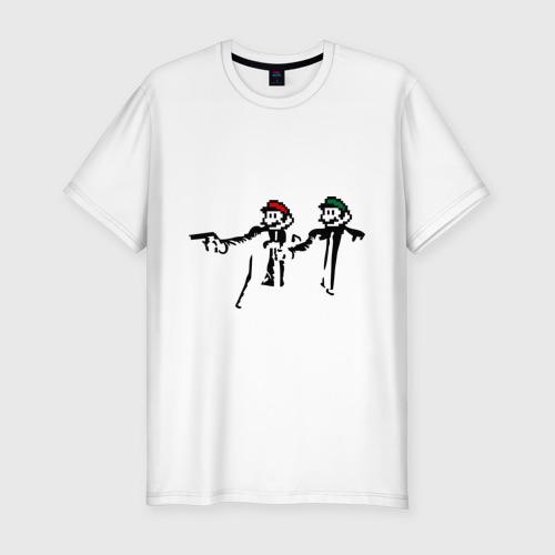 Мужская футболка премиум  Фото 01, Марио и Луиджи (криминальная чтиво)