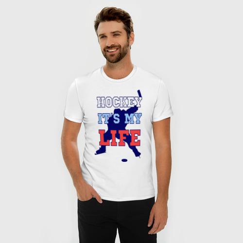 Мужская футболка премиум  Фото 03, Хоккей – моя жизнь
