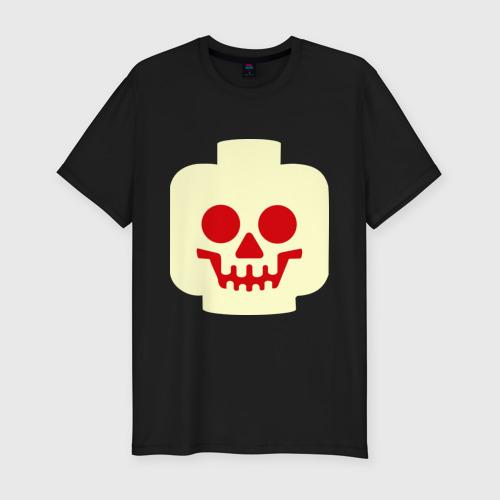 Мужская футболка премиум  Фото 01, Страшная лего-рожица (светящаяся)