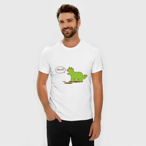 Мужская футболка премиум  Фото 03, Динозаврик