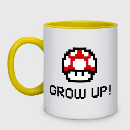 Кружка двухцветная Grow up! Фото 01