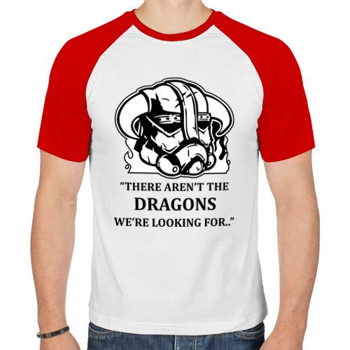 Мужская футболка реглан  Фото 01, Skyrim – тут нет драконов